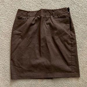 NYCC brown pencil skirt SZ 14